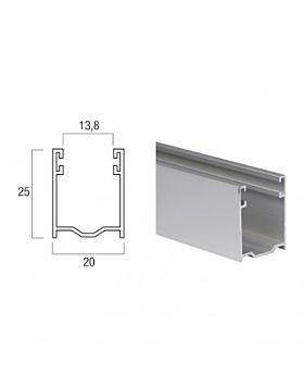 Guida In Alluminio da 25x20 mm - A25