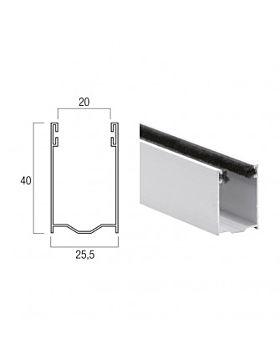 Guida In Alluminio da 40x25,5 mm - A40