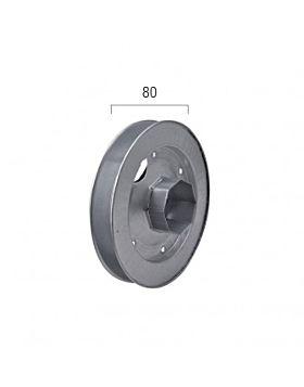 Puleggia zincata per rullo da Ø 60 da Ø 180 mm