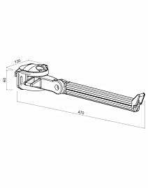Braccetti Arquati a doppio movimento in alluminio da 50 cm