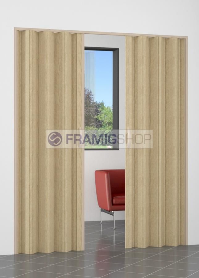 FramigShop Porta a Soffietto in PVC a 2 ante, su misura online a ...