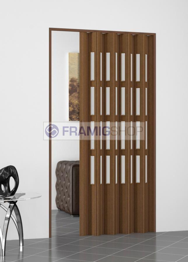 FramigShop Porta a Soffietto in PVC con vetri su misura, online a ...