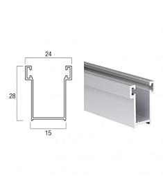 Guida In Alluminio da 28x15 mm - A14