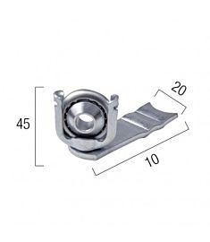 Supporto a sfera pesante zincato con cuscinetto slabile
